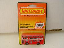 1983 MATCHBOX SUPERFAST MB 51 LEYLAND TITAN LONDON BUS YOU'LL LOVE NEW YORK MOC