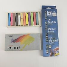 Vintage artist color pastel chalk and oil. Cico and Loew Cornell 36 pieces