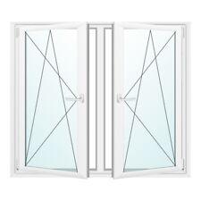 Kunststofffenster 2-fach 2-flügliges Dreh-Kipp Weiß mit Pfosten Premium