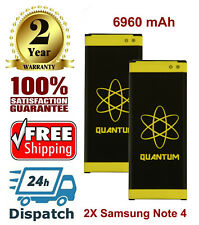 2X Quantum 6960mAh Extended Slim Batteries for Samsung Galaxy Note 4 IV SM-N910