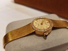 """Corum 18k Gold Vintage Ladies Watch w/Sapphire crown 7"""""""