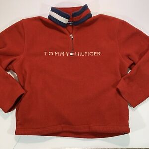 Vintage 90's Women's Tommy Hilfiger Fleece Pullover - Sz. S S/P - Embroidered