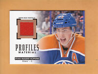 RYAN NUGENT HOPKINS 2015 16 UD PORTFOLIO PROFILES MATERIALS JERSEY #PM-RN OILERS