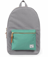 HERSCHEL SUPPLY CO SETTLEMENT MID BACKPACK GREY/SEAFOAM  MSRP $60- NEW w/TAG!