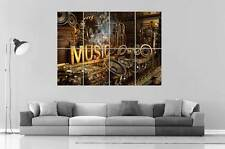 MUSIC 3D MECANIC Wall Poster Grand format A0 Large Print
