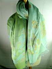 Women's Scarf Herrnschal Reversible Cotten Stole Vintage Tooscha New SO7