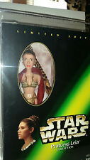 "STAR WARS UNRELEASED ALTERNATE HEAD 12"" SLAVE PRINCESS LEIA & R2-D2 AFA 85NM+"