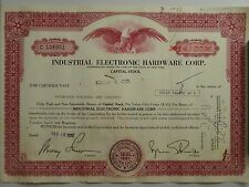 Industrial Electronic Hardware Corp. Capital Stock Certificate (14,100 shares)