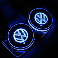 2PCS VW Blue LED Car Cup Holder Pad Mat for VOLKSWAGEN Auto Atmosphere Light