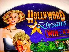 SLOT MACHINE ART GREAT COLORFUL CASINO INSERTS  HOLLYWOOD DREAMS