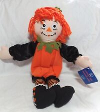 "NEW 2001 Raggedy ANN Halloween Pumpkin Costume Doll - 15"" Applause Hasbro Doll"