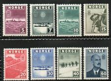1945 NORWAY London Issue, WWII  NK 331-38  MNH