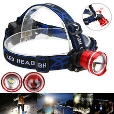 Zoomable 8000LM XM-L T6 LED Head Flashlight Fishlight Headlight Light AA Battery