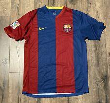 2006-07 FC Barcelona Ronaldinho #10 Soccer Nike Medium Jersey LA Liga