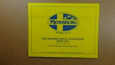1992 Mossberg Arms Firearms PARTS AND ACCESSORIES PRICE LIST