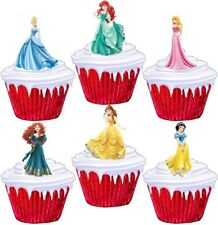 24 PERSONALISED DISNEY PRINCESS CUP CAKE FAIRY CAKE TOPPERS 10 DIFFERENT DESIGNS
