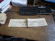 la production française agricole et industrielle - n° 228 - 16 Avril  1933