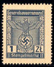 653-GERMAN EMPIRE-Third reich.WWII.GENERALGOUVERNEMENT NAZI REVENUE Brand MNH**