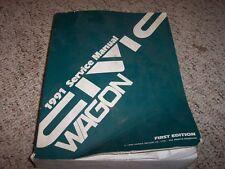 1991 Honda Civic Wagon Service Shop Repair Manual 1.5L 1.6L 4 Cyl