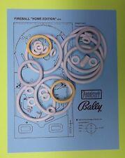 1976 Bally FIREBALL ''HOME'' pinball rubber ring kit