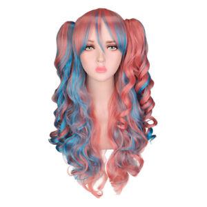 A Silent Voice Shouko Nishimiya Wig Pink Hair Long Kawaii Anime Girl Womens