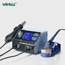 ES-YIHUA 992D+ soldering desoldering station with hot/cool air 110V US NEW