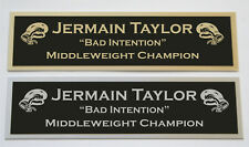 Jermain Taylor nameplate for signed boxing gloves trunks photo