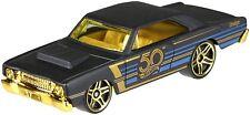 Hot Wheels 1/64 2018 50th Anniversary Black & Gold Set of 6 Cars