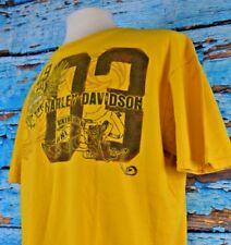 Harley Davidson Men's Graphic Shirt Size XL Biker To The Bone Palatine Yellow