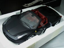 1/18 Hot Wheels Elite FERRARI 458 ITALIA SPIDER (MATT BLACK)