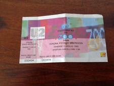 Biglietto concerto U2 Zooropa Tour '93, Stadio Bentegodi di Verona Italy INTEGRO