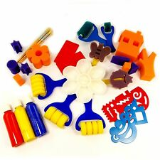 Super-Bundle Art and Crafts Pack. 28pcs. Rollers, Sponges, Paint, brushes joblot