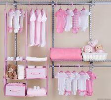 24 Piece Girl Nursery Closet Organizer Baby Clothes Hangers Storage Shelf Lady