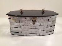 Vintage Dorset Rex Fifth Avenue Metal Basket Weave Box Purse