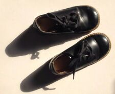 Lovely Vintage Child's USA Black 'Foot-Mates' Stitched Leather Shoes & Soles
