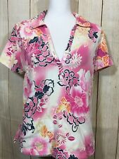 Jamaica Bay Women's Floral Short Sleeve Blouse Size M (19-B)