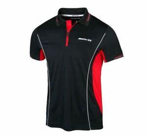 Mercedes-AMG Funktionsshirt, Poloshirt Herren (S-XXL) schwarz / rot B66958