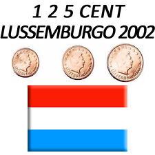 1 + 2 + 5 CENT 2002 LUSSEMBURGO LUXEMBURGO LUXEMBOURG - FDC UNC DA ROTOLINO