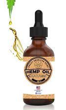 Pure Organic Vegan Hemp Oil Drops For Pain Relief, Stress, Keto, Anxiety, Sleep