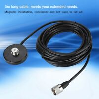 SO239 Magnetic Antenna Base+5m RG-58 Feeder Cable for Mobile Walkie Talkie Radio