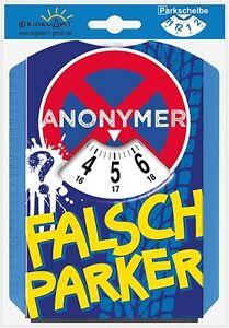 EigenArt - Parkscheibe - Spaßparkscheiben mit Eiskratzer - StVO - Anonymer.....