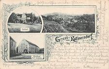 Rottwerndorf bei Pirna Gasthof Postkarte 1900