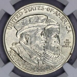 1924-P 1924 Huguenot Commemorative Silver Half Dollar 50c NGC MS 62