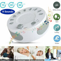 White Noise Sound Machine Sleep Therapy Relaxation Baby Adults Home Office