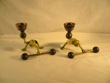Petite Choses frog candle holders- weight lifters