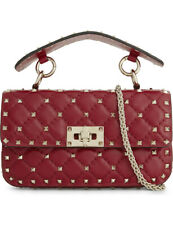 VALENTINO GARAVANI Rockstud Spike Small Quilted Leather Shoulder Bag - £1400