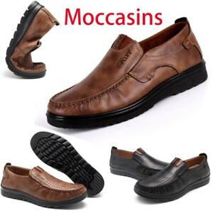 Mens Suede Leather Shoes Breathable Antiskid Loafers Moccasins Fashion Summer
