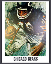 Chicago Bears 1960's Artistic Poster - 8x10 Color Photo