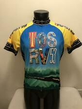 Tosrv 53 Ohio Bright Colorful Primal Cycling Jersey Mens size Large