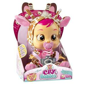 IMC Toys Cry Babies Gigi Adorable Giraffe Baby Real Tears Crying Doll 90194IM